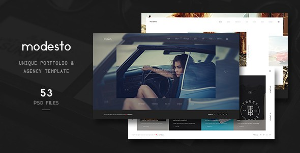 Modesto - Unique Portfolio & Agency Template