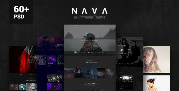 Nava - Ultimate Multimedia PSD Template