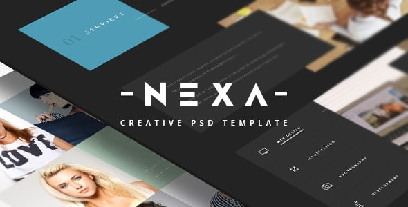 Nexa - Creative One Page PSD Template
