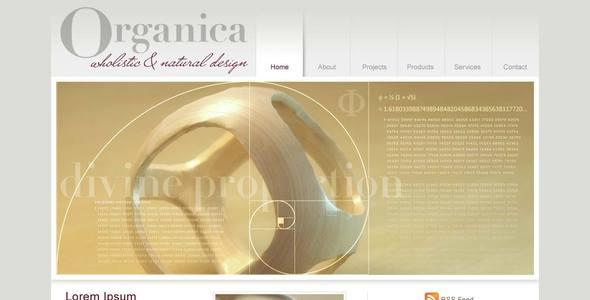 Organica | Clean portfolio, product, design studio template