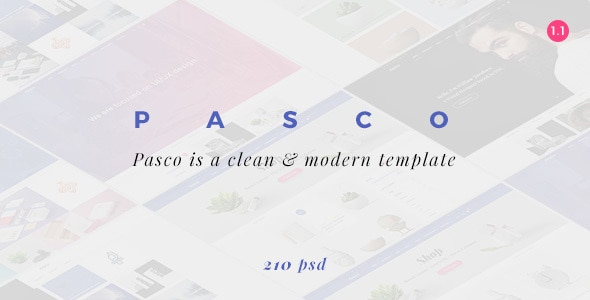 PASCO | Responsive Multi-Purpose PSD Template