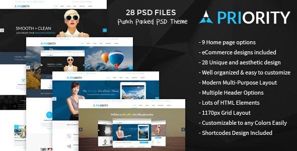 Priority   Multi-Purpose PSD Template