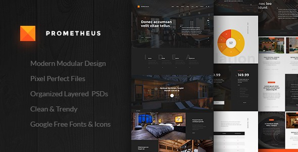 Prometheus – Multipurpose PSD Template