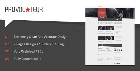 Provocateur - Creative PSD Template