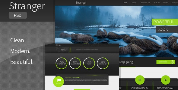 Stranger - Multi-purpose PSD Template