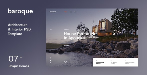 Baroque | Architecture & Interior PSD Template