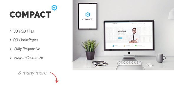 Compact - Multipurpose Corporate Business PSD Template