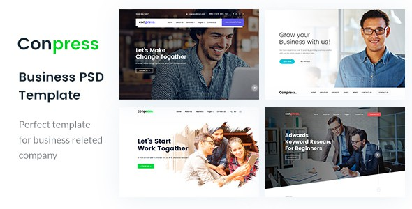 Conpress. Business & Agency PSD Template