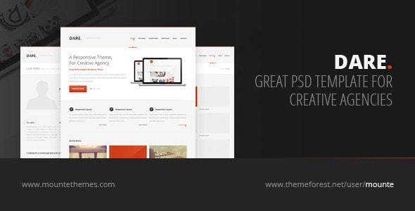 Dare - Premium Multi-Purpose PSD Template