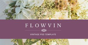 FlowVin - One Page Vintage PSD template