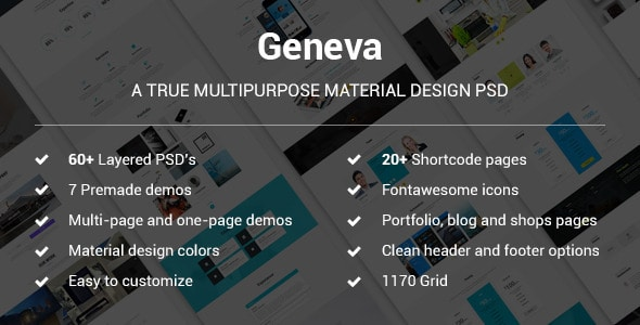 Geneva - A True Multipurpose Material Design