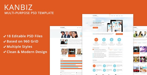 Kanbiz - Modern Multi-Purpose PSD Template