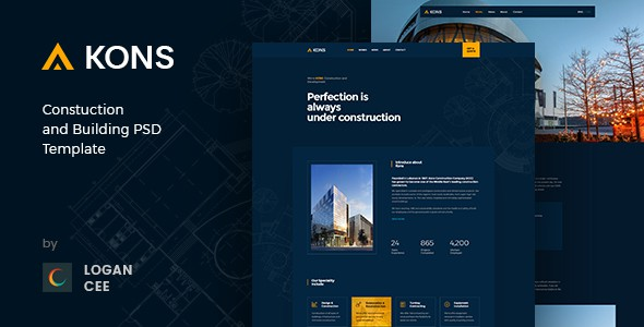 Kons ! Construction PSD Template