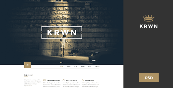 Krwn - Creative and Business PSD Theme