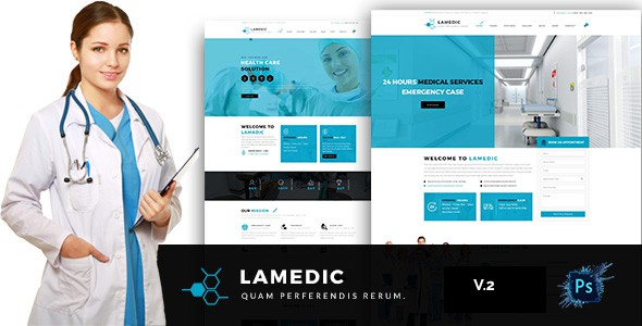 Lamadic -  Health & Medical PSD Template