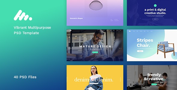 Moody - Vibrant Multipurpose PSD Template