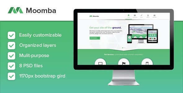 Moomba - Multipurpose PSD Template
