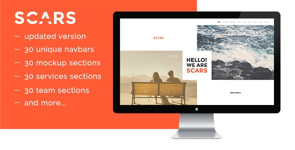Scars Website Builder PSD