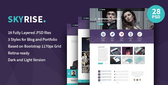Skyrise - Business PSD Template
