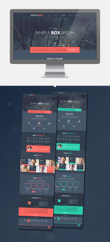 Simple Box PSD Template
