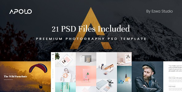 Apolo - Premium Photography & Portfolio PSD Template