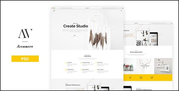 Avonmore - Creative Portfolio / Blog PSD Template