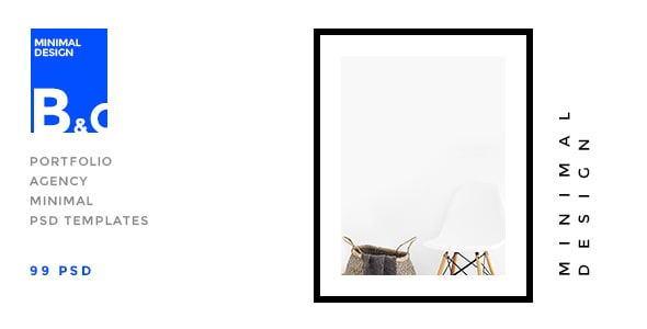 B&C - Portfolio & Agency minimal PSD Template