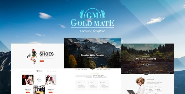 GoldMate - Multipurpose PSD Template