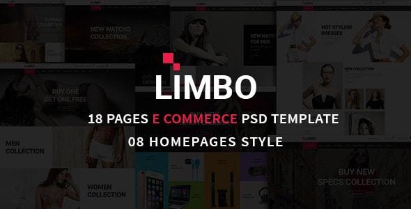 Limbo eCommerce PSD Template