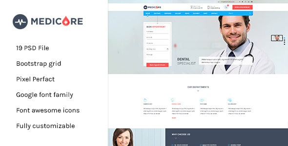 Medicare - Medical & Health PSD Template
