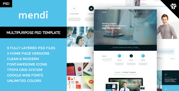 Mendy - MultiPurpose Corporate Template