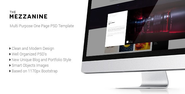Mezzanine - Multi Purpose One Page PSD Template