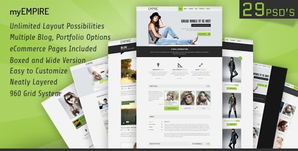myEmpire - Business, Portfolio, Shop PSD