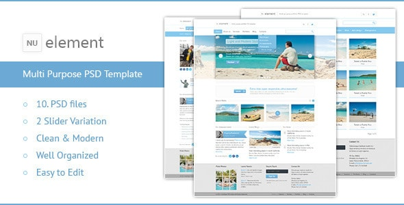 NuElement - Business PSD Template