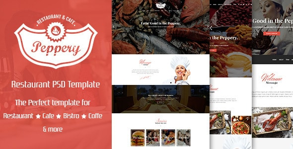 Peppery - Food & Restaurant PSD Template