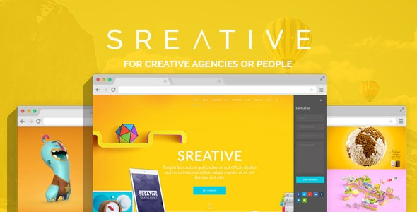 Sreative | Digital Agency PSD Theme