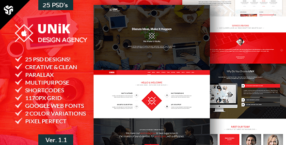 UNiK - Multi-Purpose Parallax Template
