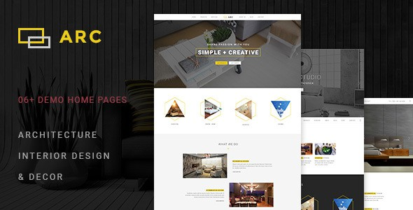 ARC - Interior Design, Decor, Architecture Business PSD Template