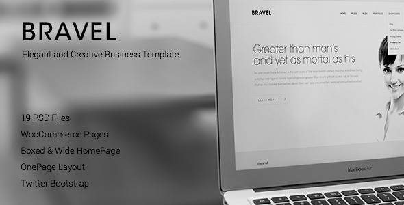 BRAVEL PSD Template