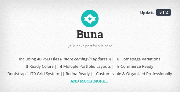 Buna - Your Next Agency/Portfolio Template