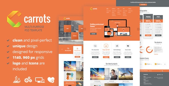 Carrots - PSD Template