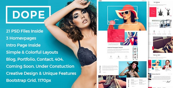 Dope - Creative Photography Portfolio PSD Template