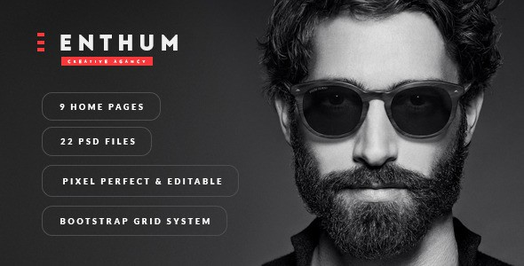 Enthum - Agency & Portfolio PSD Template