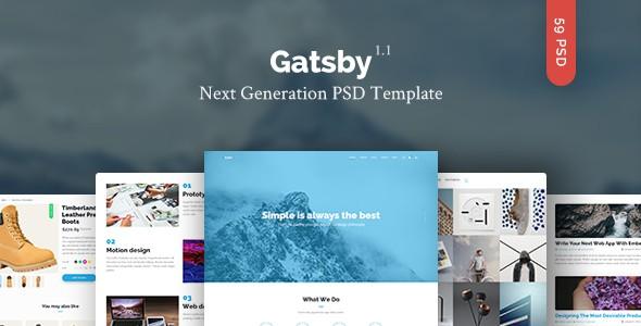 Gatsby — Creative Multipurpose PSD Template
