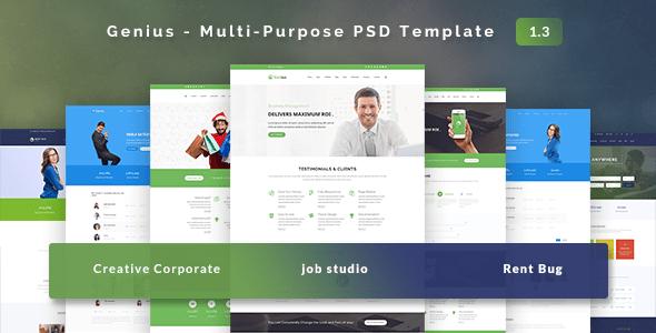 Genius - Multi-Purpose PSD Template