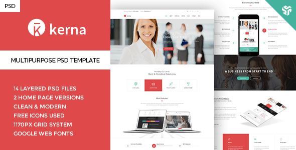 Kerna - Multi-Purpose PSD Template