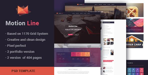 Motion Line - creative portfolio PSD template