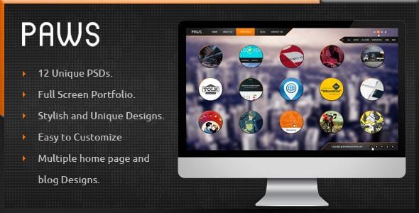 Paws - Full Screen Portfolio PSD
