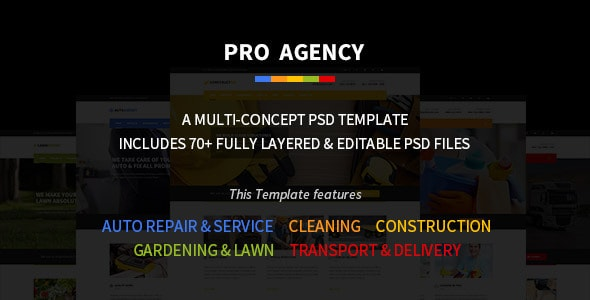 Pro Agency- Multipurpose PSD Template