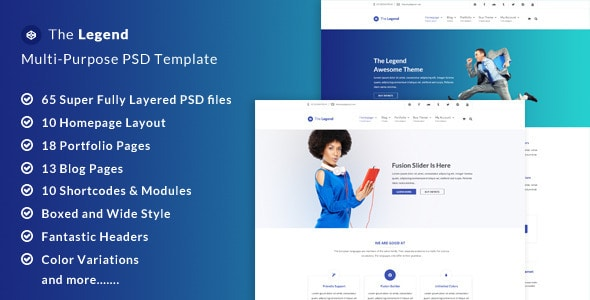 The Legend - Multi-Purpose PSD Template